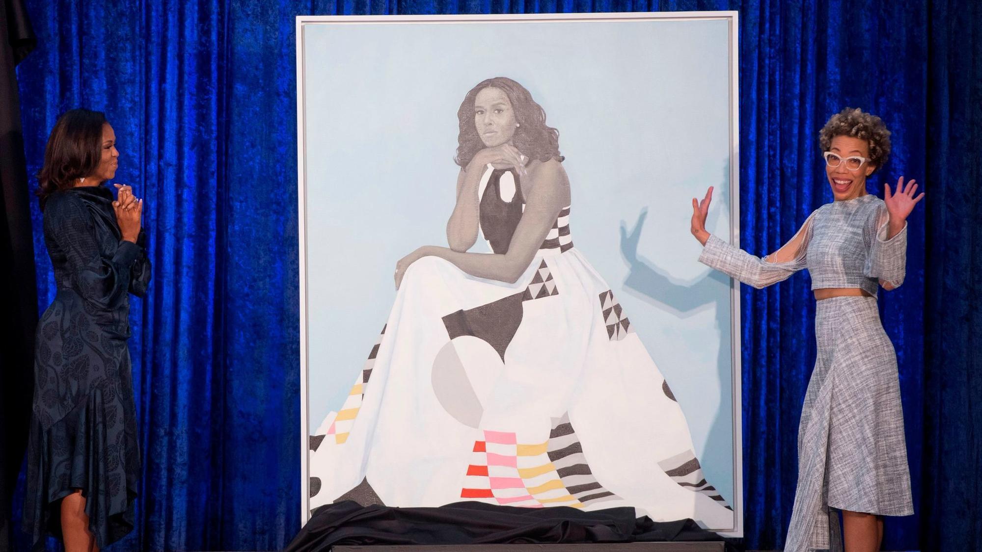 Artist Behind Michelle Obama Portrait