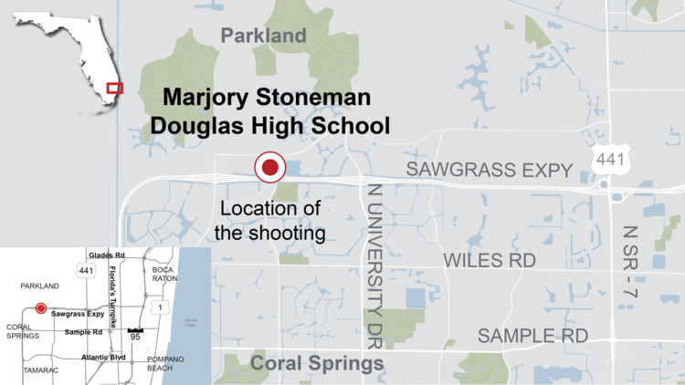 Parkland school shooting location