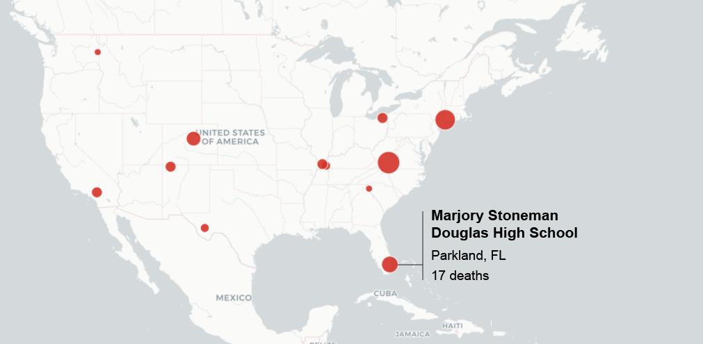 Parkland Florida Map.Map Major School Shootings In The U S Sun Sentinel