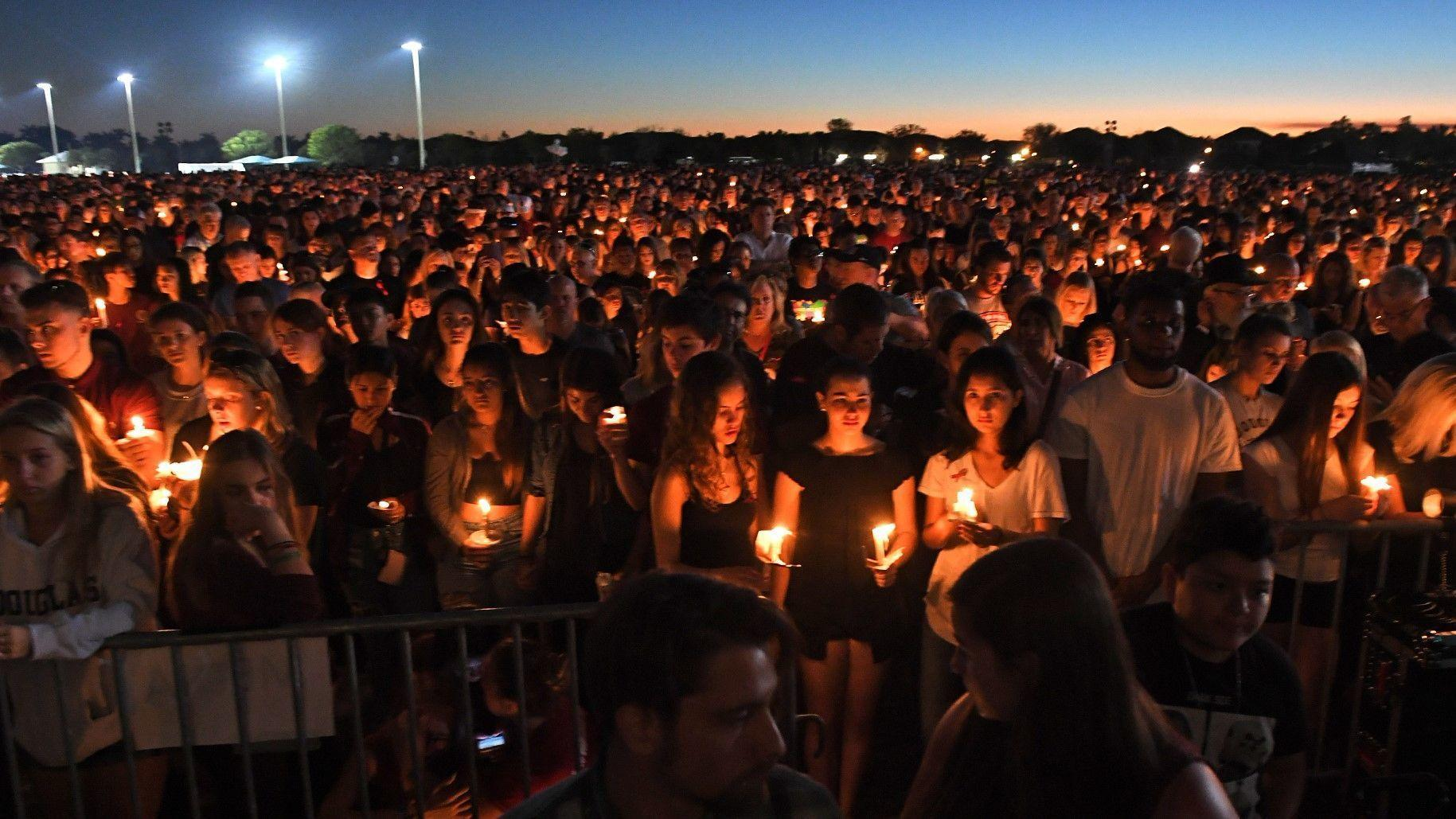 Image result for night vigil florida students