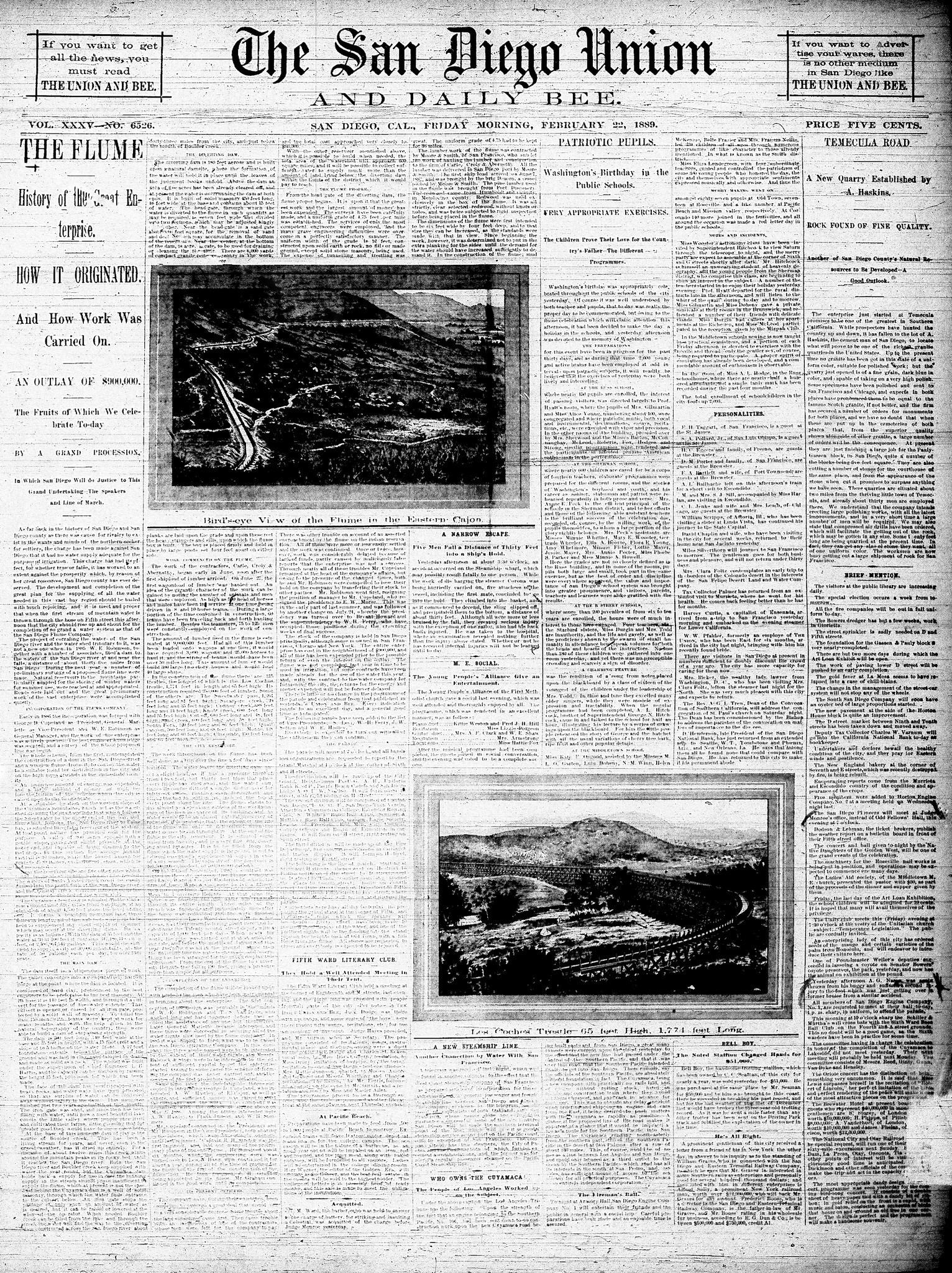 February 22, 1889