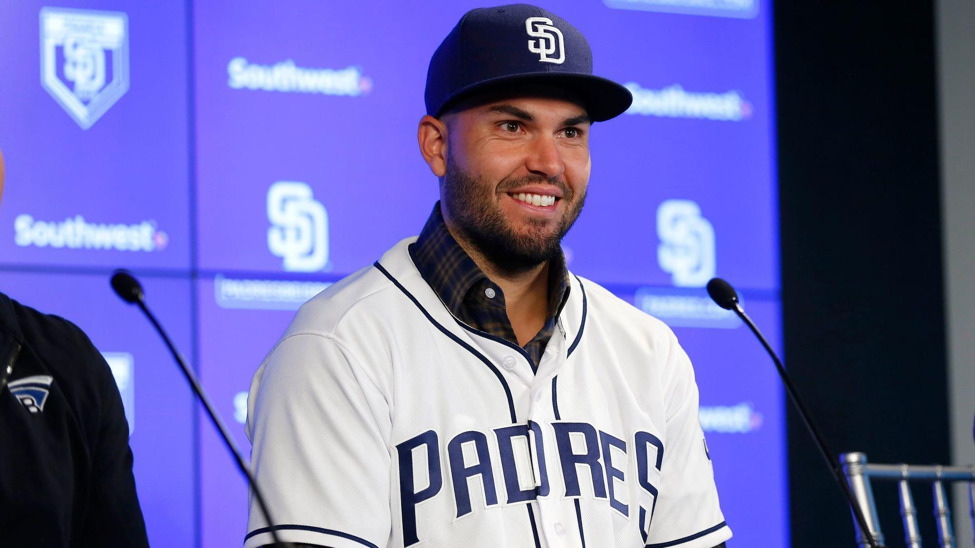 reputable site db61b 8a6c5 New Padre Hosmer eager for 'great moments' in San Diego ...