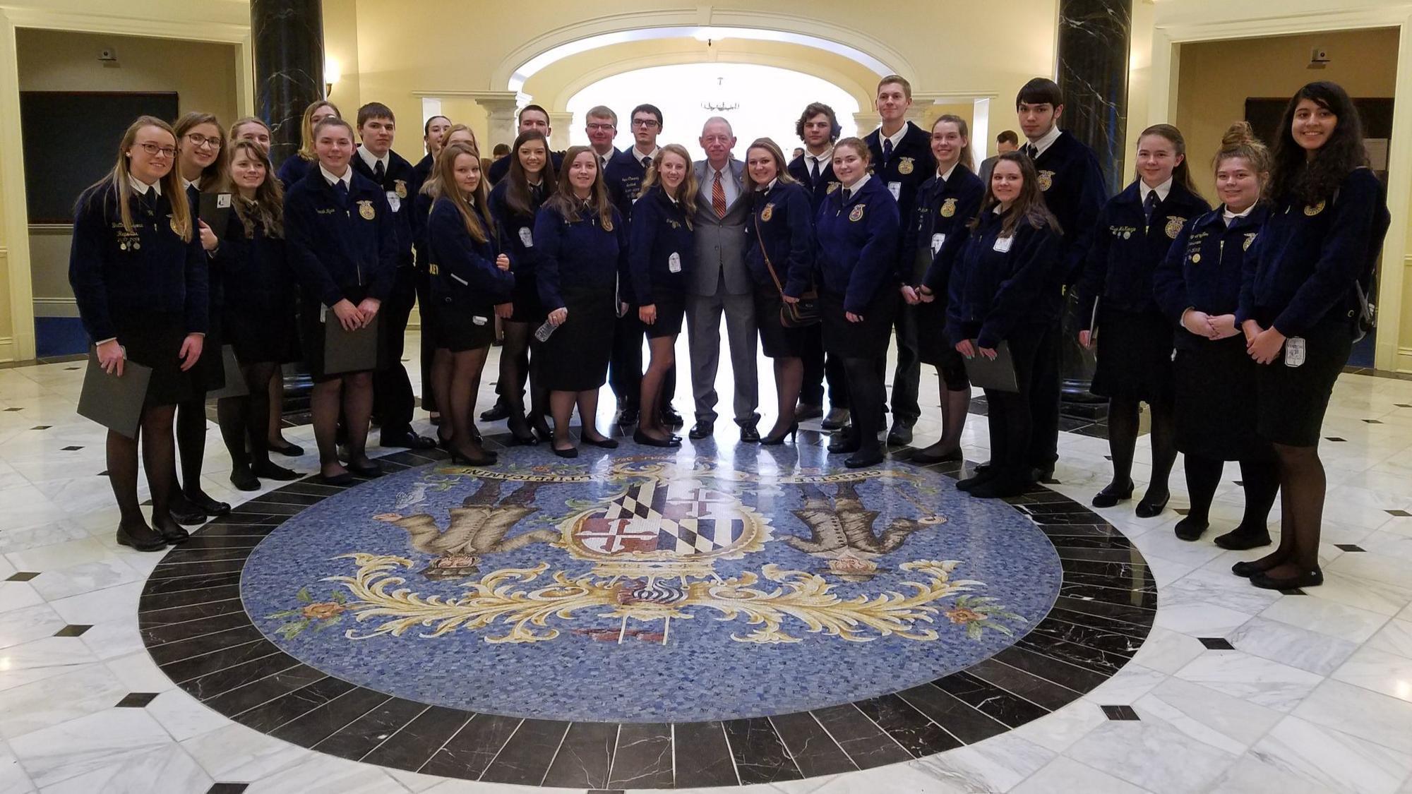94ab18f8 Students mark FFA Week with a visit to state legislators - Carroll ...