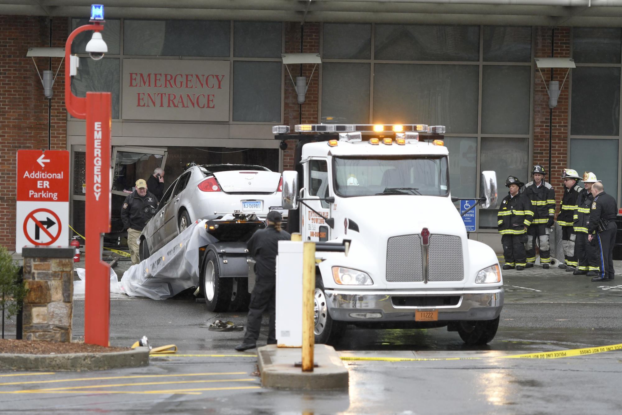Mayor: Man Drove Car Into Middlesex Hospital Entrance, Set Himself On Fire