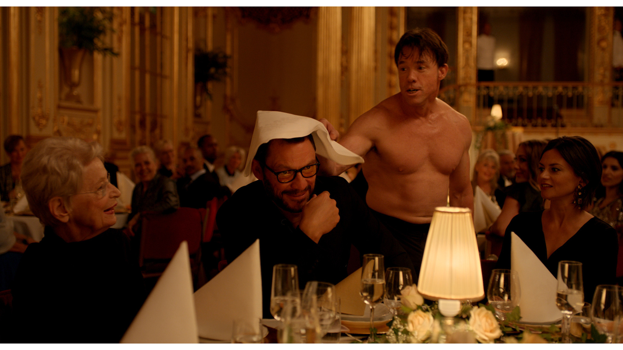 (L-R)- Dominic West and Terry Notary in a scene from