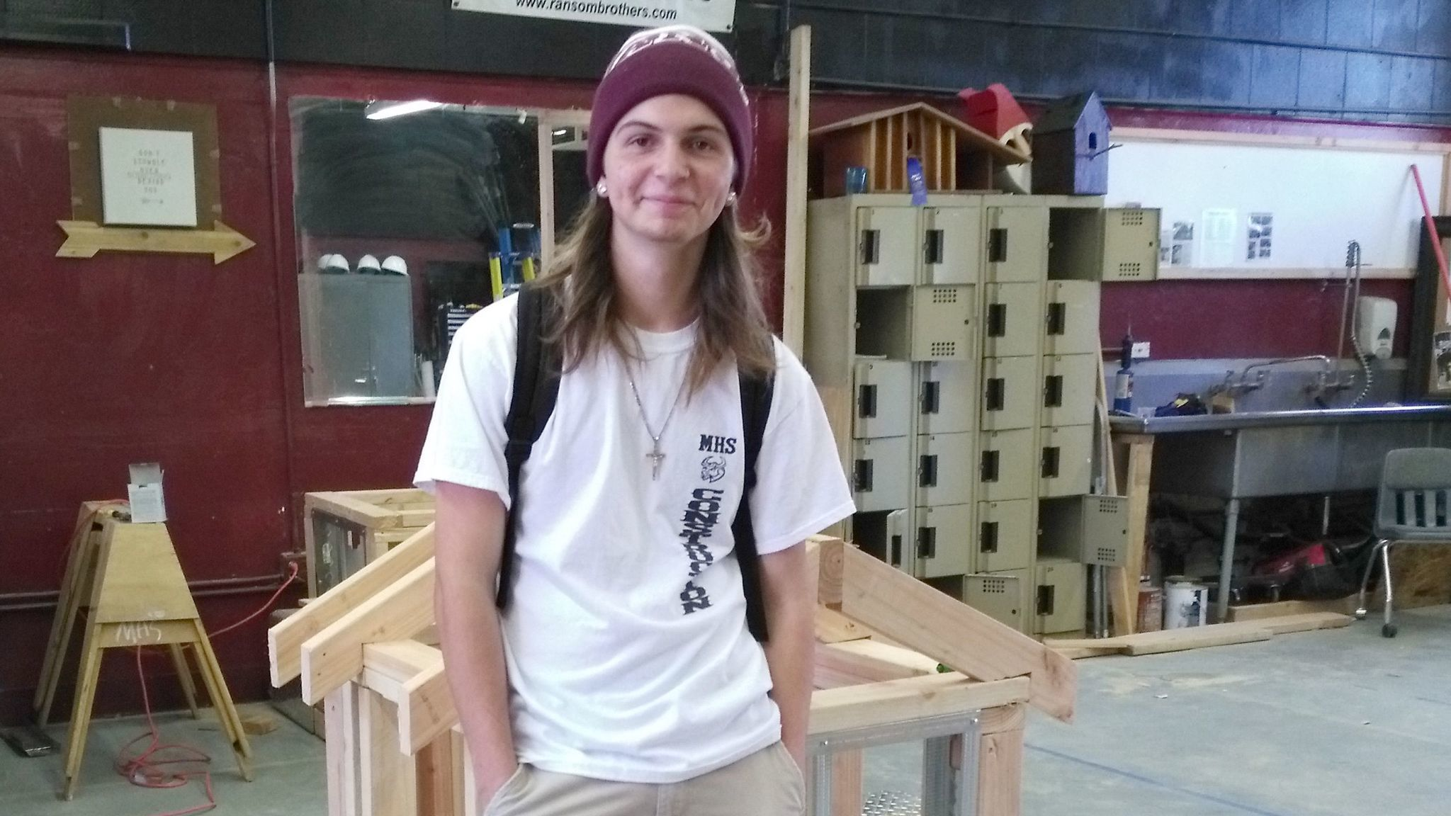 Montecito High School senior Adrian Elsasser is the proud winner of a first-place gold medal in the carpentry category at the SkillsUSA Region 6 competition.