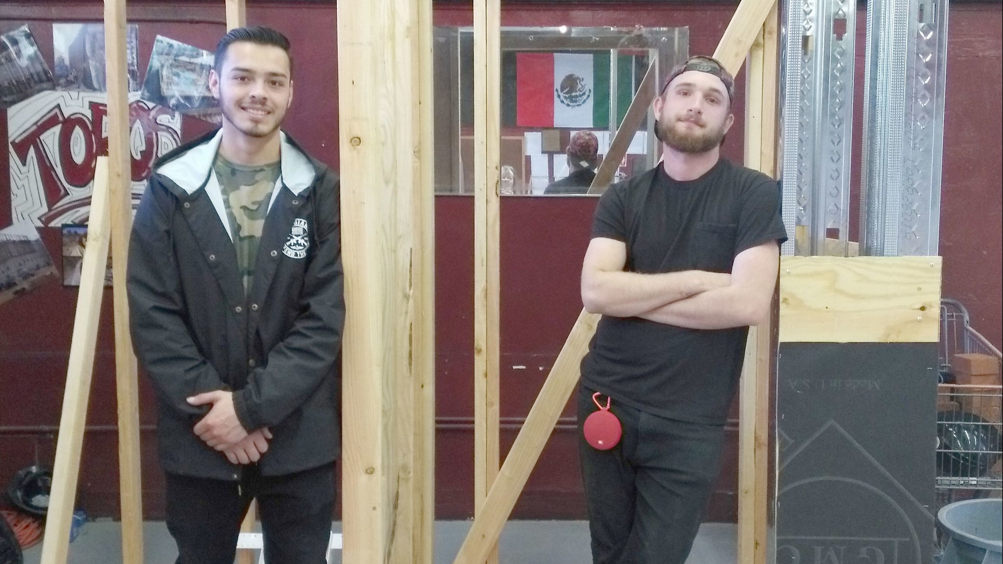 Montecito High School senior Luis Lozano and junior Dartanian Danks are part of a four-member team that won a first-place gold medal at the SkillsUSA regional competition.