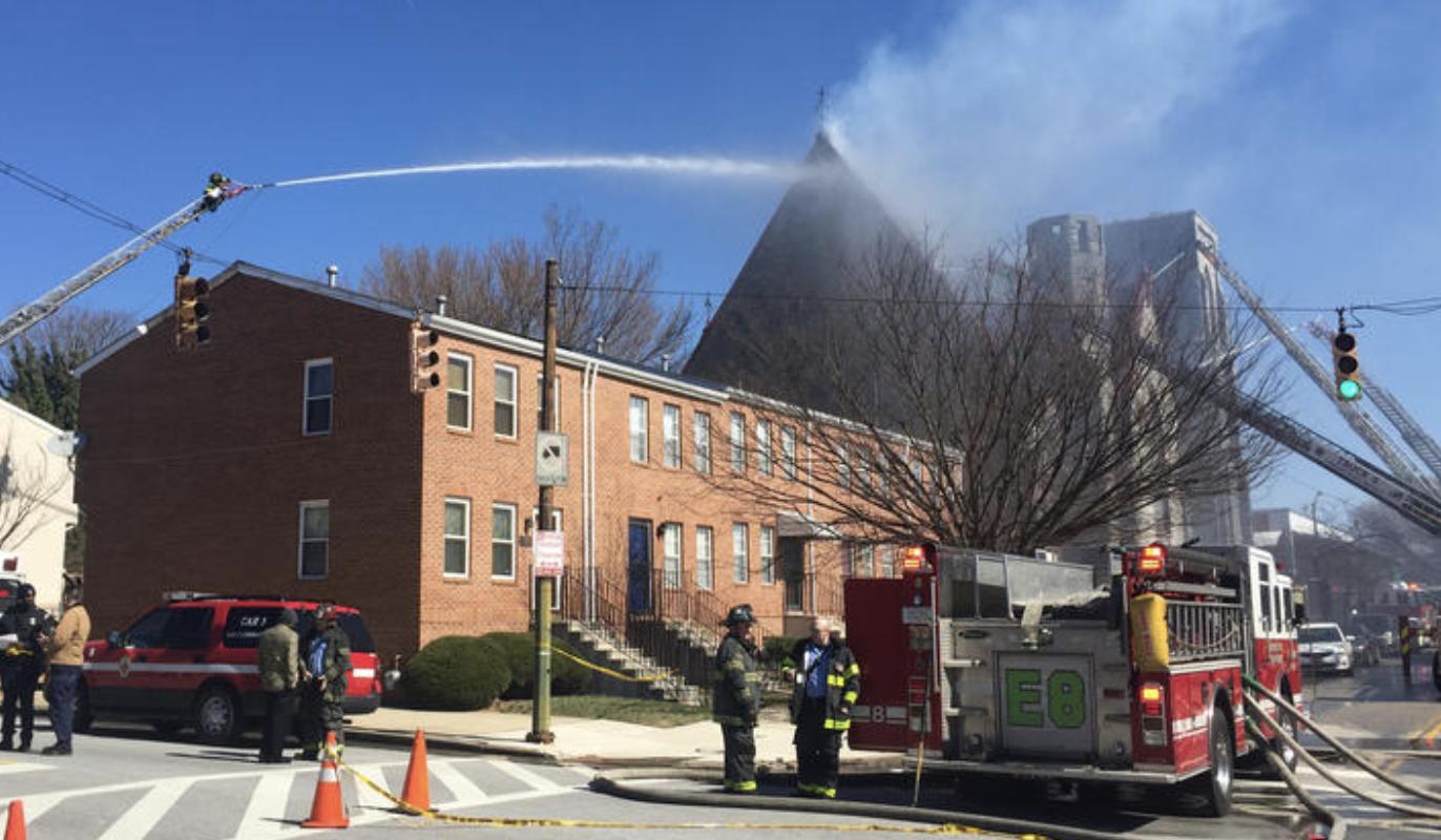 Fire Burns Historic Grace Memorial Baptist Church In East