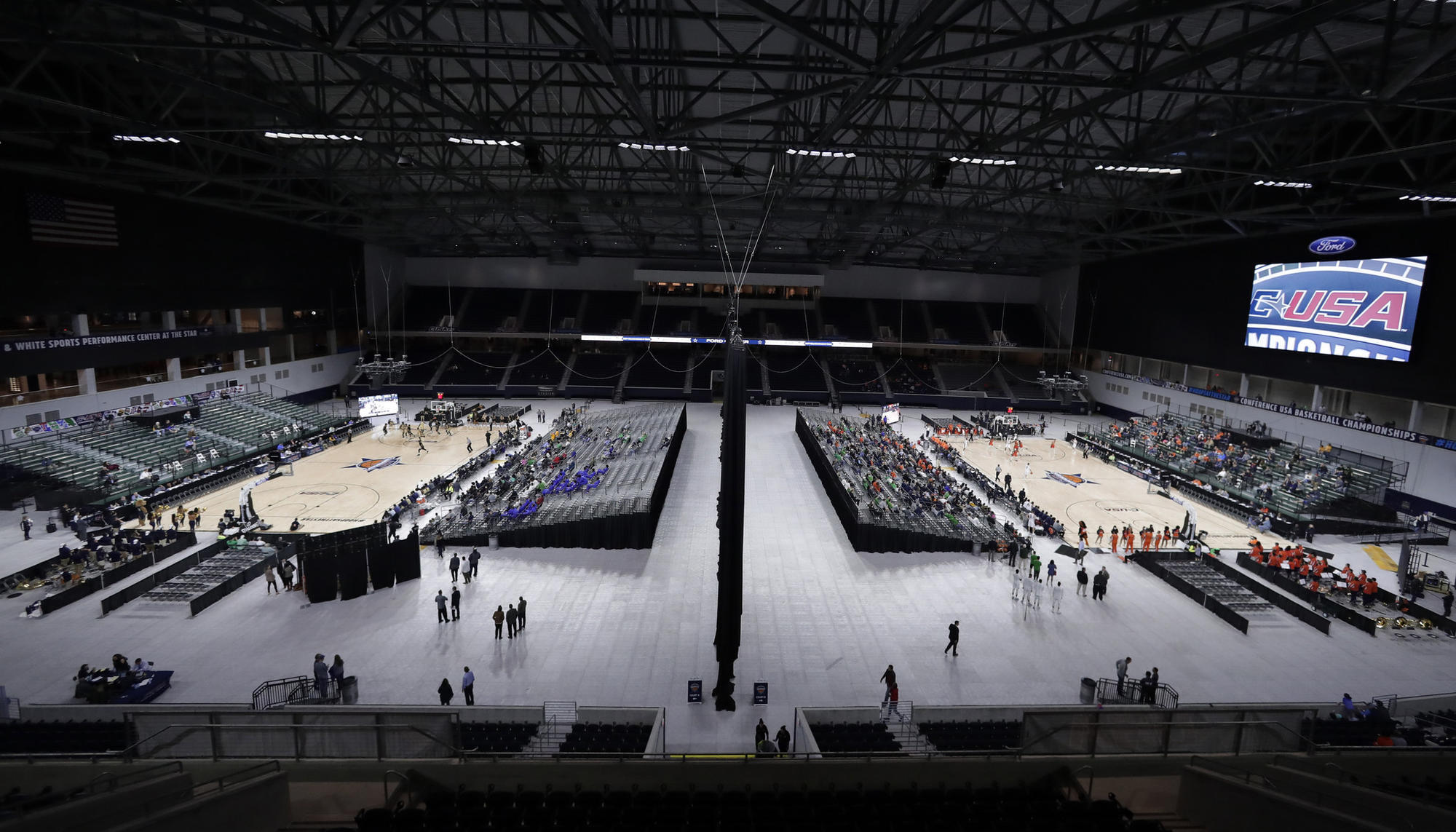 Conference usa tournament games on 2 courts simultaneously chicago tribune