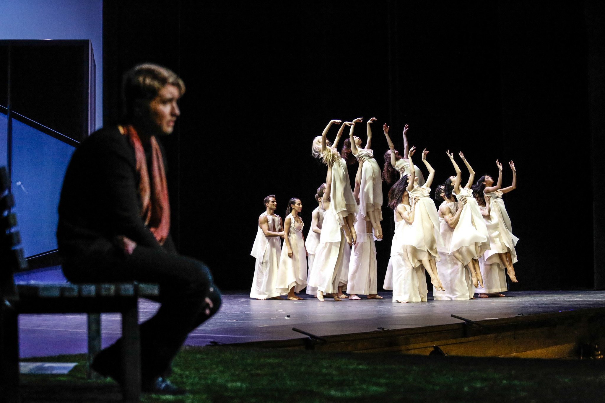 "LOS ANGELES, CA--MARCH 8, 2018: Los Angeles Opera's collaboration with the Joffrey Ballet on ""Orpheu"