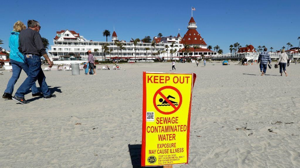 Tijuana River Sewage Shutters Beaches From Mexico Border To Coronado The San Go Union Tribune