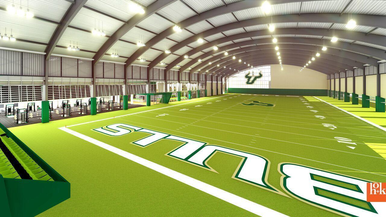 USF unveils plans for new $40 million football facility with indoor practice field - Orlando ...