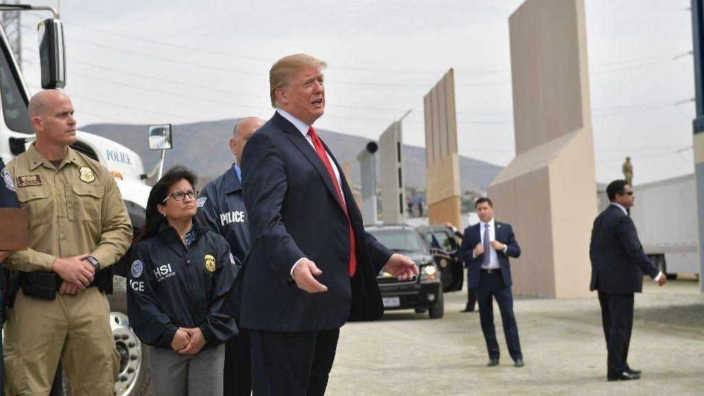 Image result for photos of trump at border