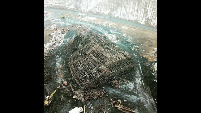 Pennsylvania's last massive coal breaker comes down, ending