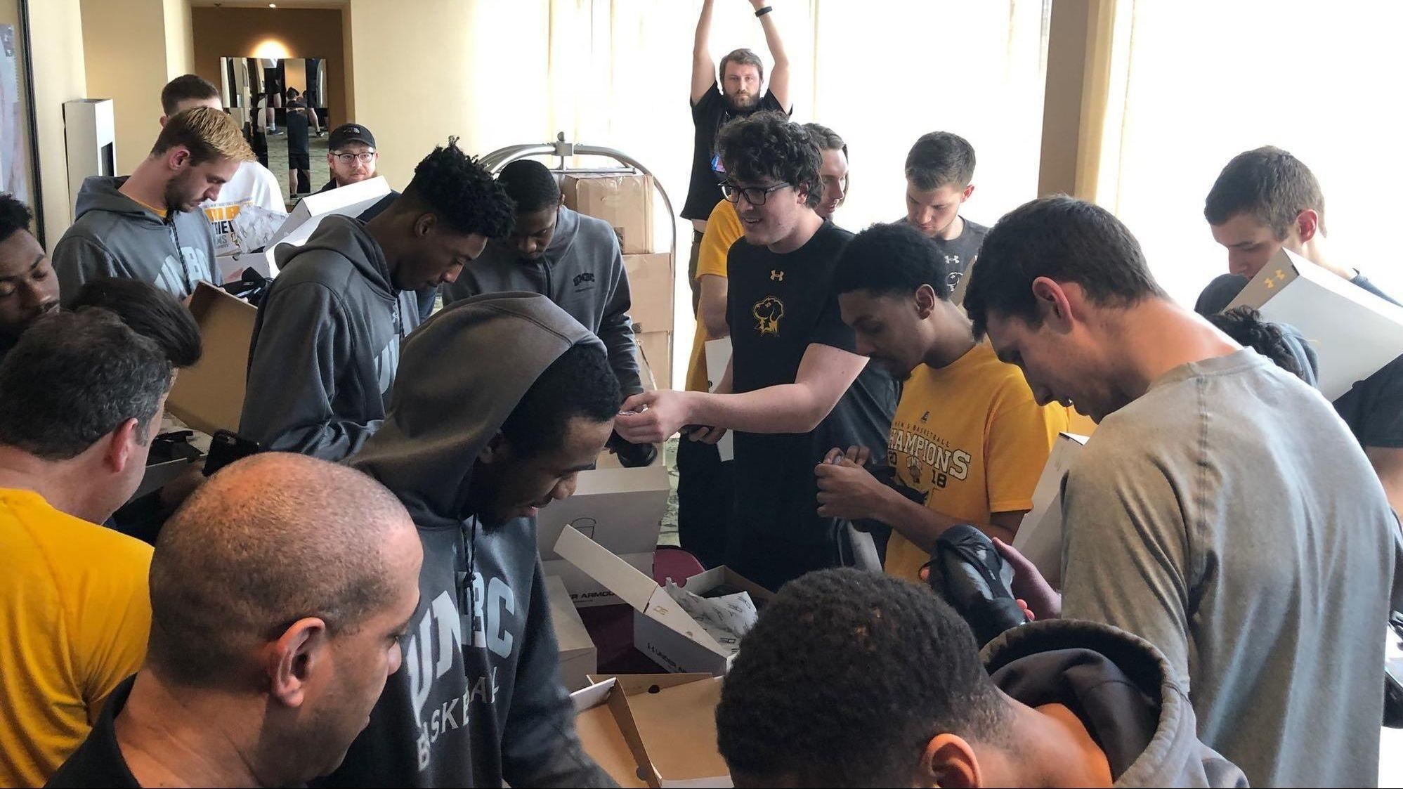 UMBC team got special delivery of newest Stephen Curry basketball shoe