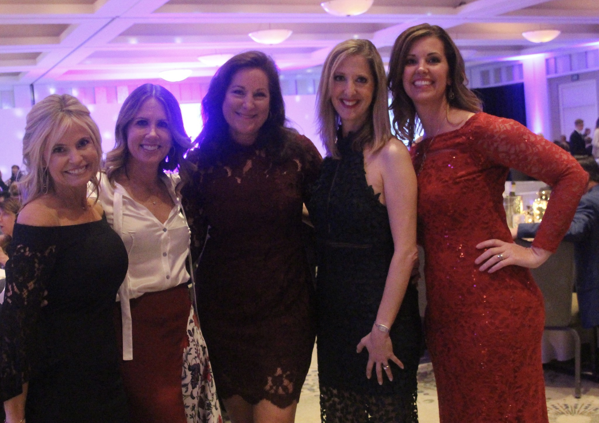 Fashion Show Co-Chairs Kris Hole and Kristy Laliotis, Chapter President Amy Monteparte, Senior Recognition Co-Chairs Sandy Llaneta and  Michelle Alexander