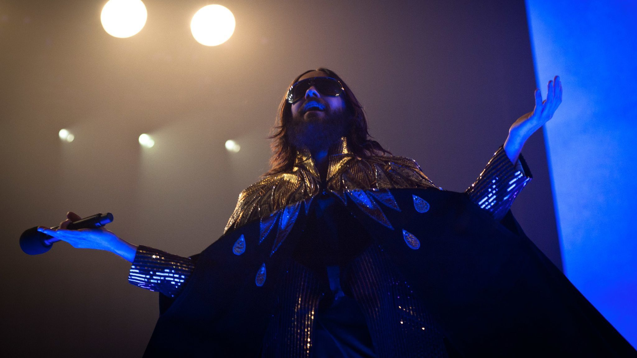 Jared Leto performs during a Thirty Seconds to Mars in concert in Rome.