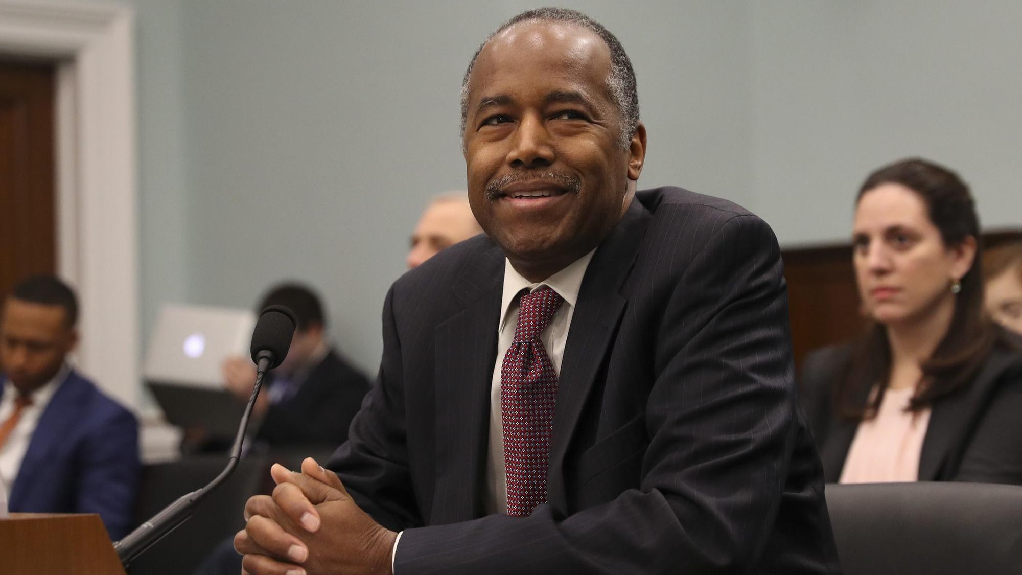 Hud Secretary Ben Carson Tells Lawmakers He Left Decision On
