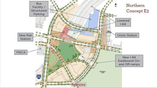 Two Options Emerge For New Train, Bus Stations In Downtown ... on new jersey bus map, greensboro bus map, hoboken bus map, grand rapids bus map, corvallis bus map, louisville bus map, missoula bus map, santa ana bus map, cleveland bus map, ct bus map, california bus map, savannah bus map, south bend bus map, santa rosa bus map, norwalk bus map, sag harbor bus map, detroit bus map, albuquerque bus map, worcester bus map, buffalo bus map,