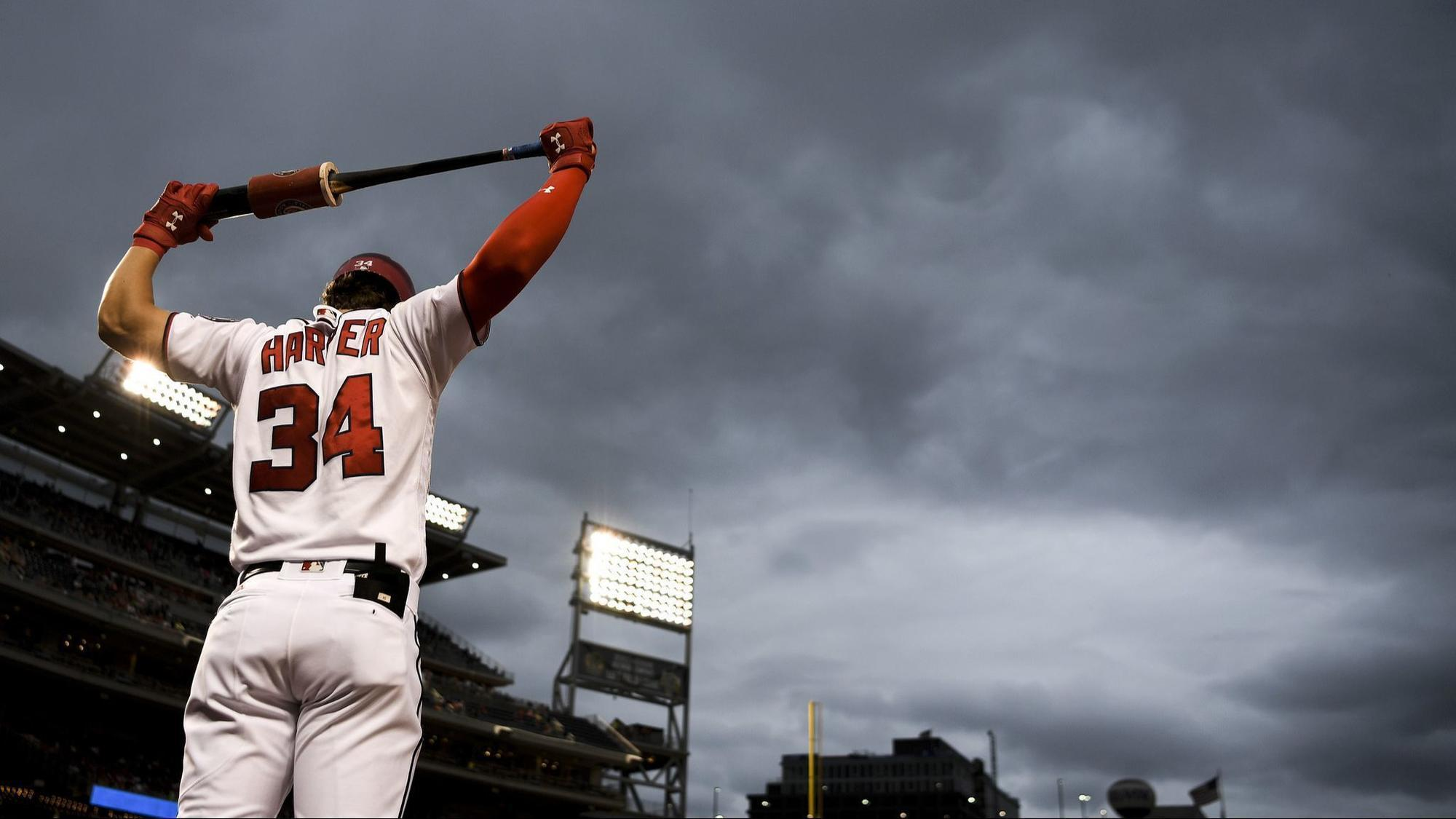 Nationals Bryce Harper Is About To Step Into The Storm
