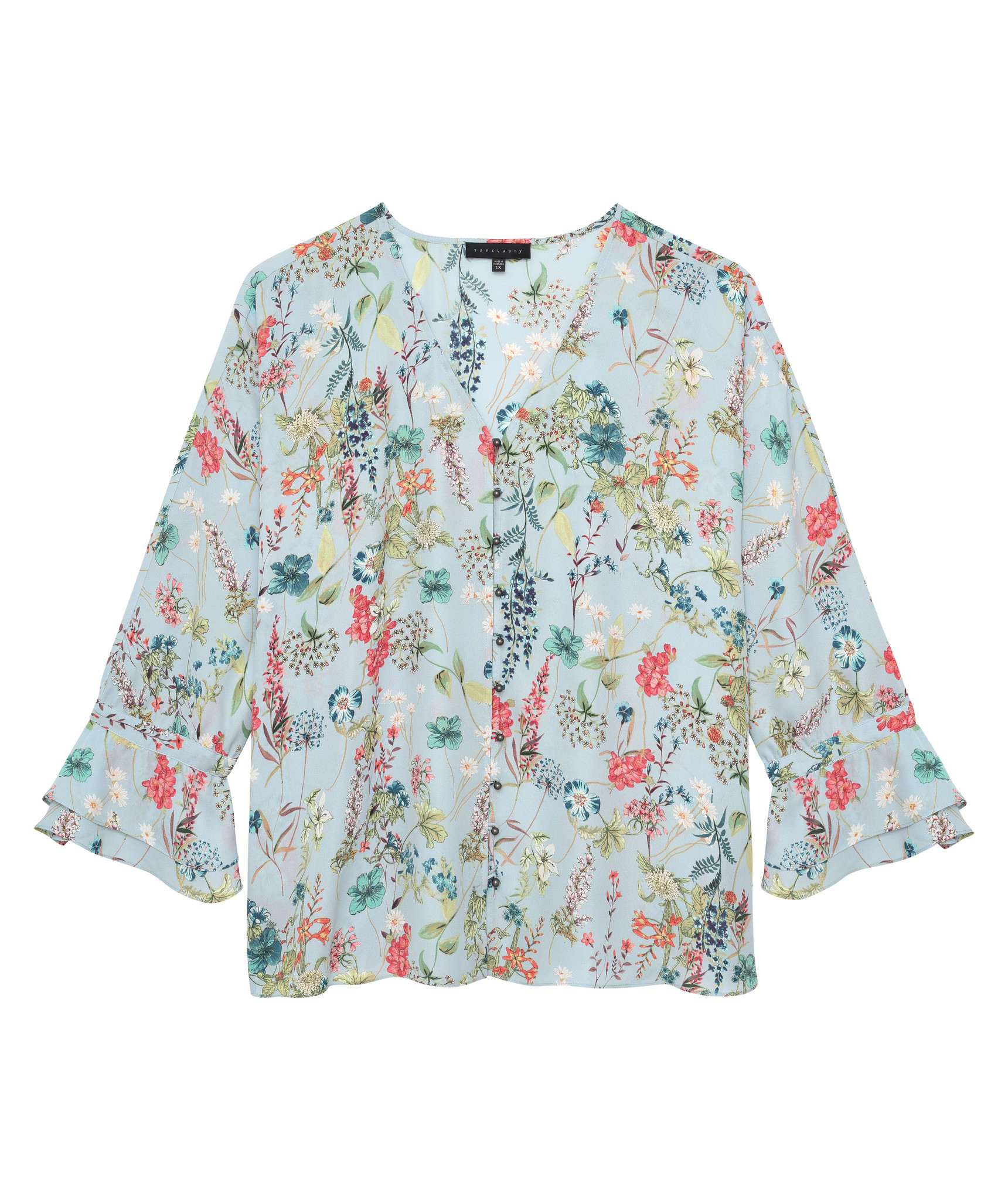 A summery floral blouse from Sanctuary will come is part of the brand's 'inclusive' program that runs across multiple size groups.