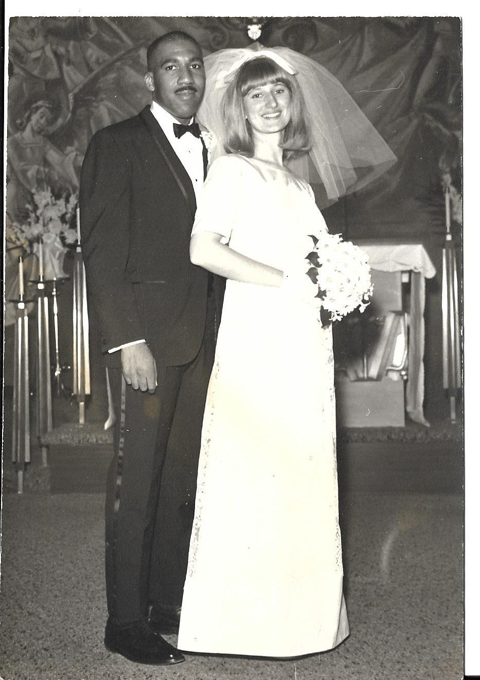 Charles and Janice Tyler on their wedding day.