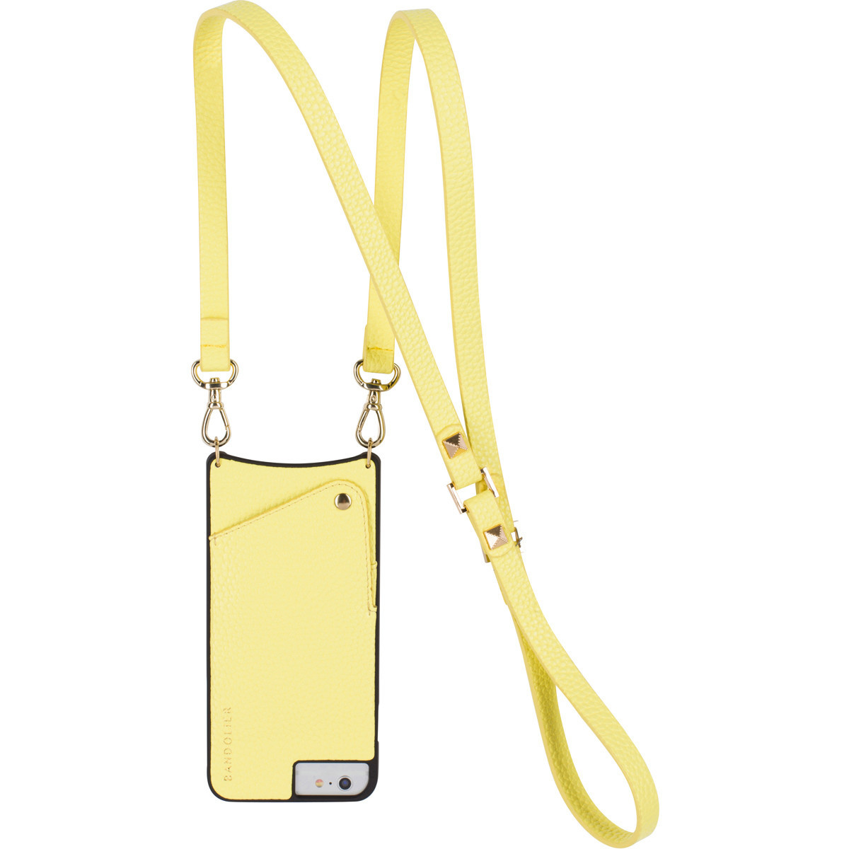 Hands-free phone/credit card/cash carrier from Bandolier.