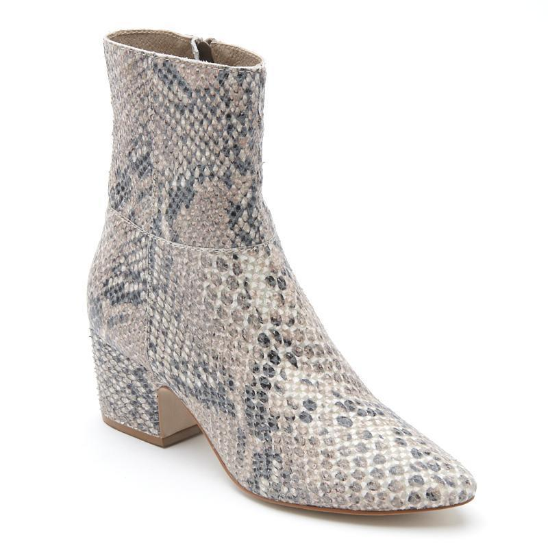 Los Angeles brand 12th Tribe has these snakeskin booties that are festival-ready.