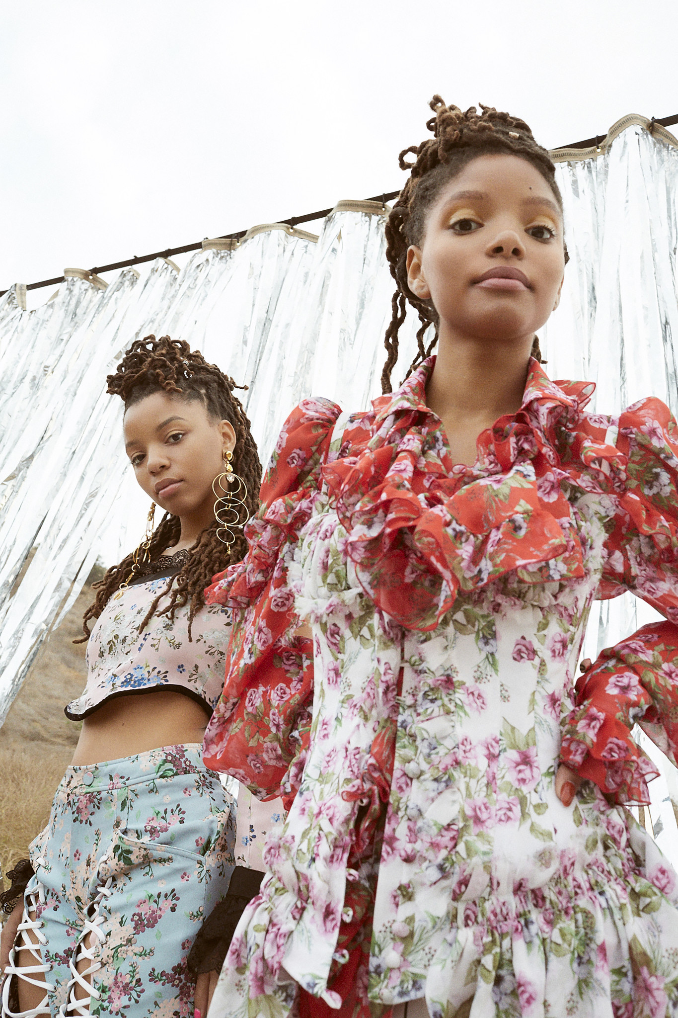 Halle and Chloe Bailey, sisters that make up the R&B duo Chloe X Halle. Credit: Robin Harper