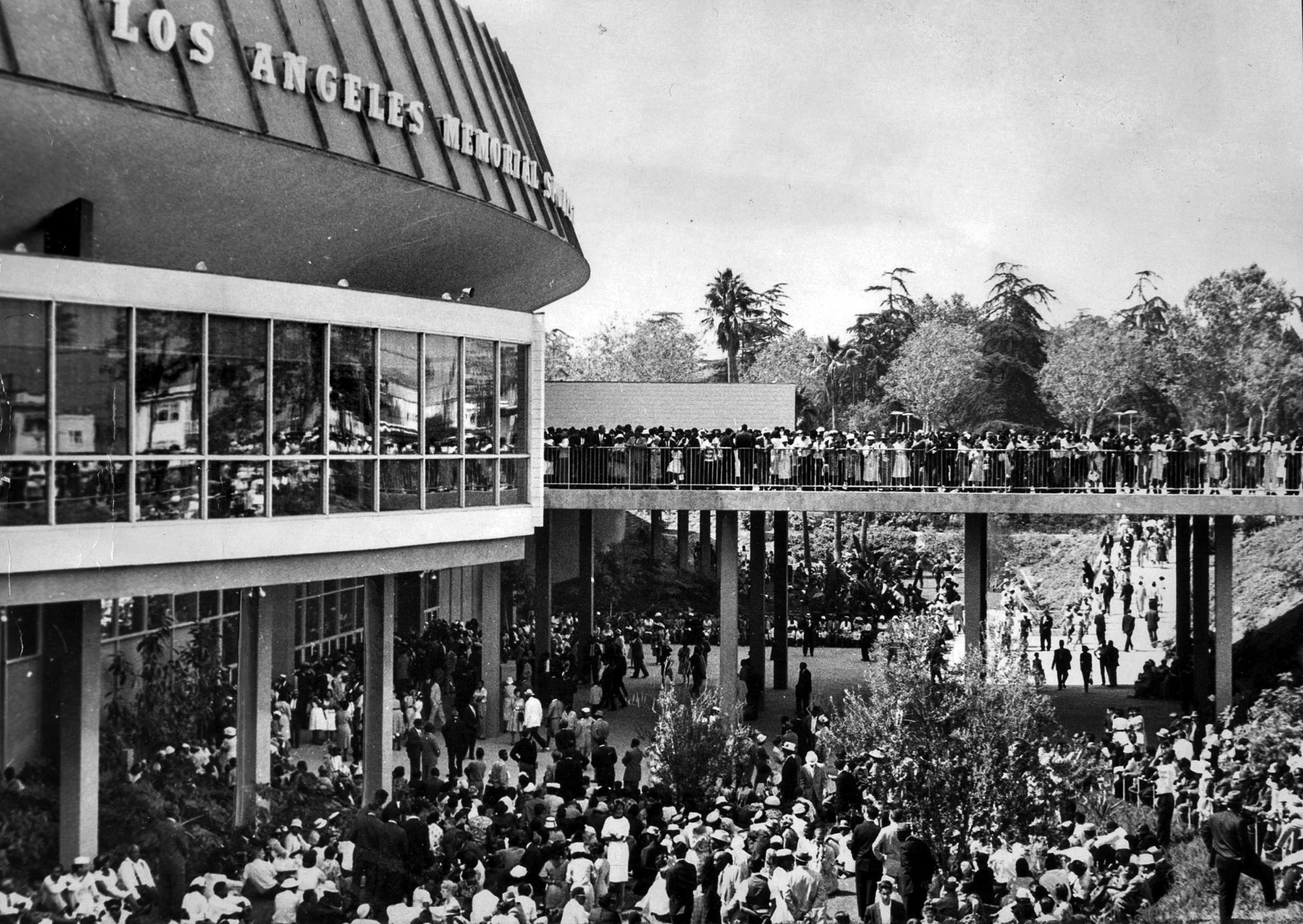 June 18, 1961: Overflow crowd outside of Sports Arena was able to hear Rev. Martin Luther King, Jr.