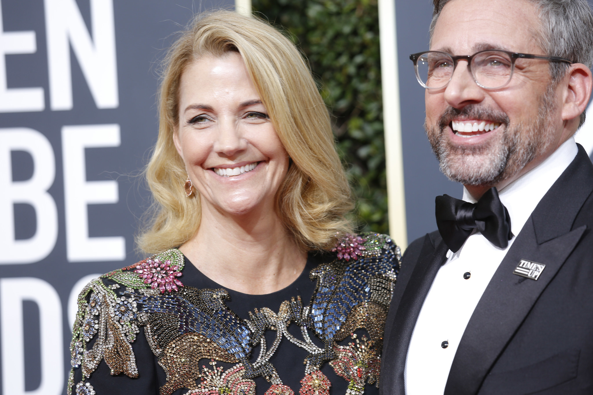 BEVERLY HILLS, CA - January 7, 2018 Steve Carrell and wife arriving at the 75th Golden Globes at th