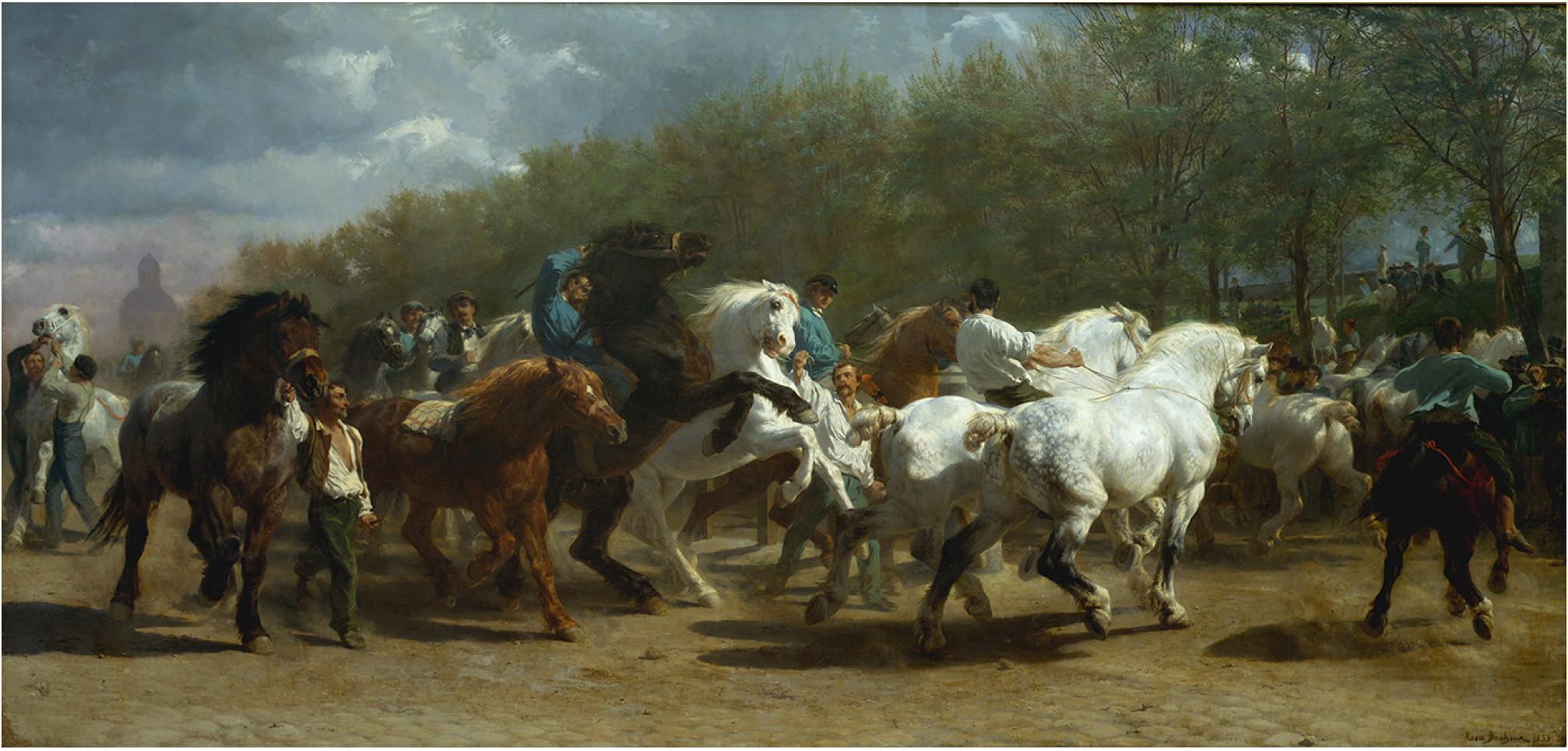 """Rosa Bonheur's """"The Horse Fair,"""" 1852-55, oil on canvas"""