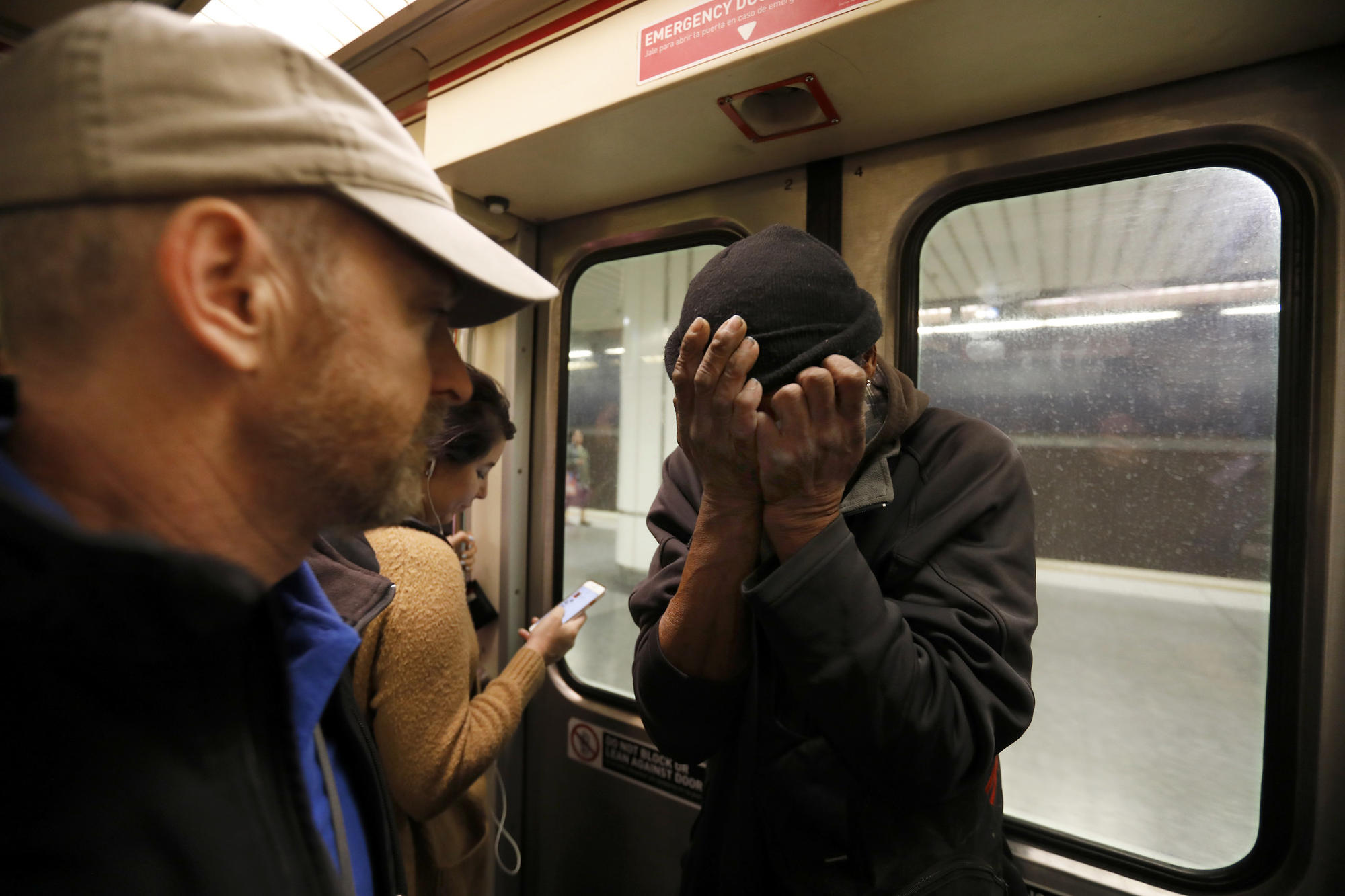 As waves of homeless descend onto trains, L A  tries a new