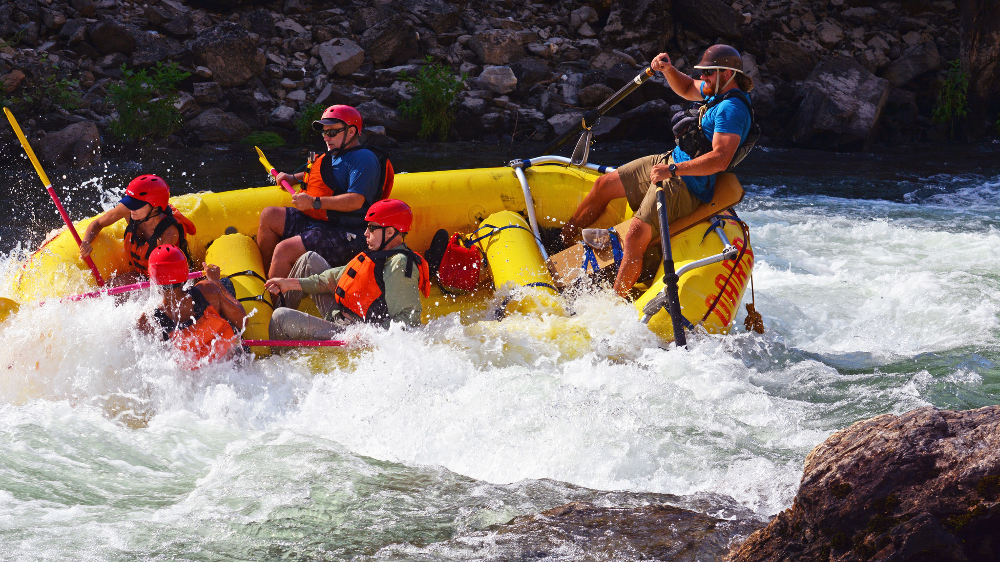 On a three-day rafting trip down the Tuolumne River near Yosemite National Park last summer, OARS gu