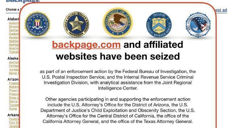 Classified Ads Site Backpage Com Apparently Seized By Fbi The San Diego Union Tribune