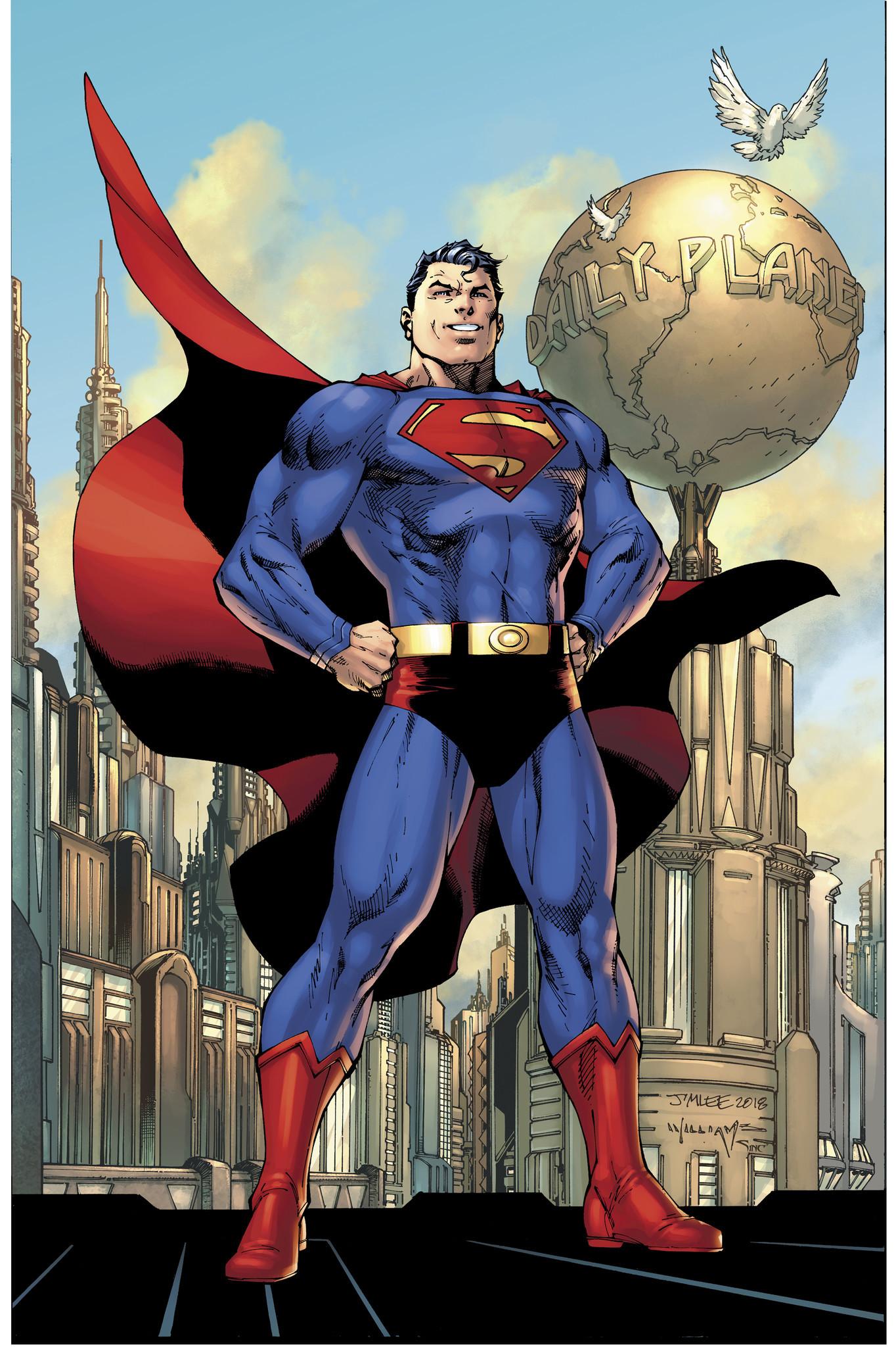 Jim Lee's rendition of Superman