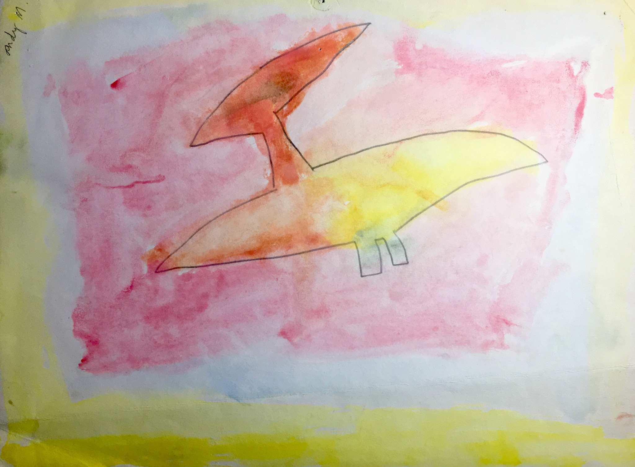 Andy Moses' art from when he was 5. It will be on view in the exhibition