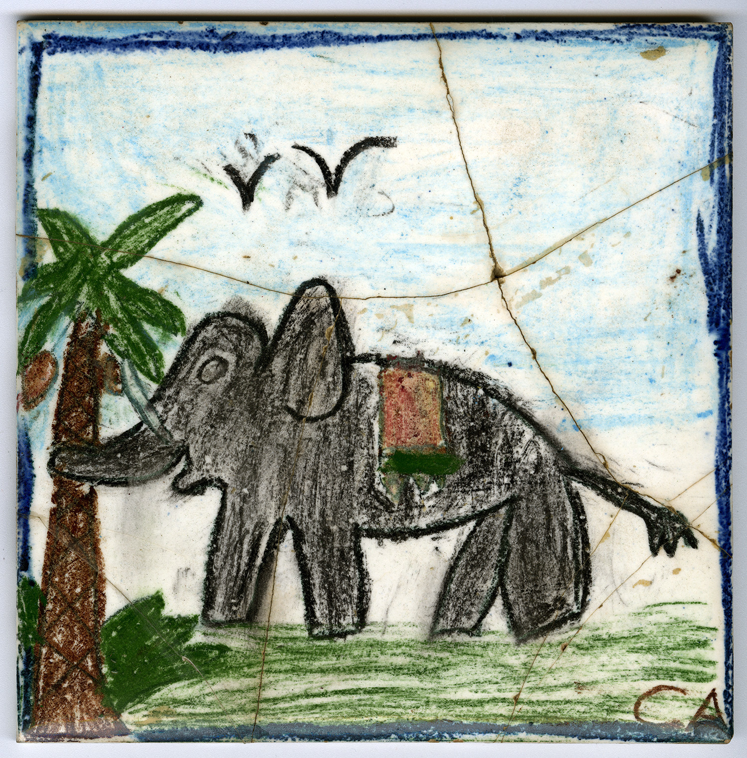 Charles Arnoldi's art from when he was 7.