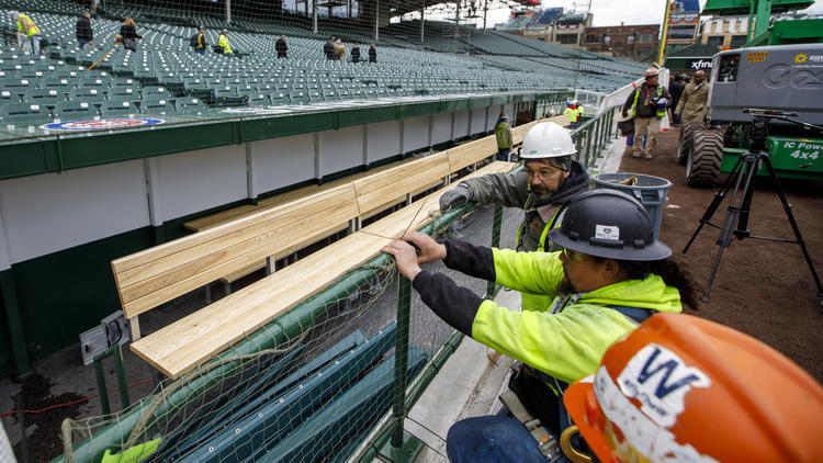 Wrigley Field Unveils Expanded Dugouts And Roomier