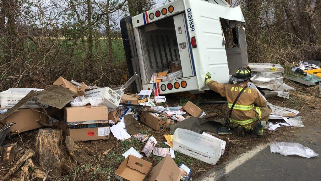 usps driver involved in crash on broadneck peninsula