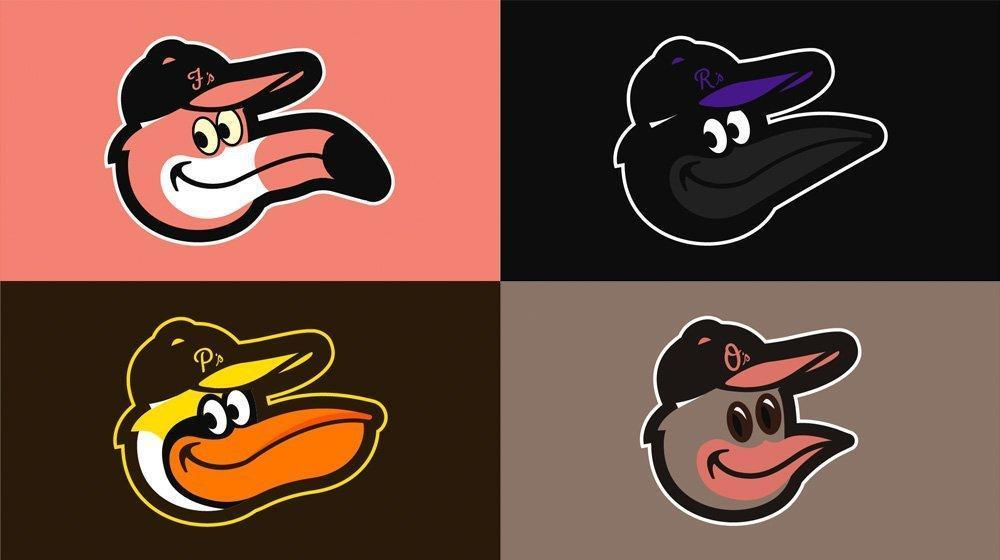 7cafd80fe19 Orioles  cartoon logo transformed into other birds through Florida graphic  designer s  SmilingBirdLogo - Baltimore Sun