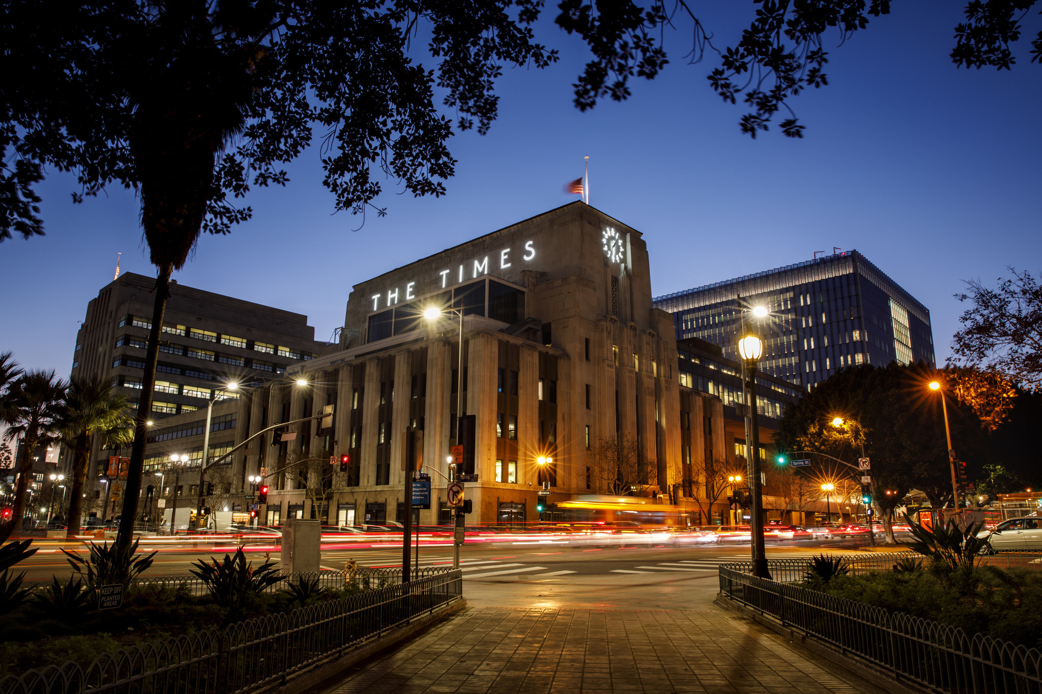 The Los Angeles Times building