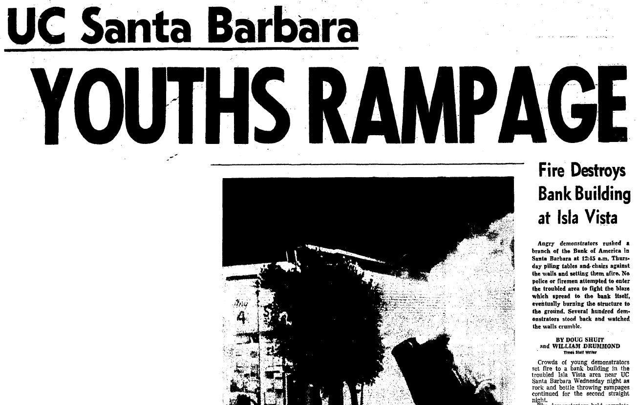 UC Santa Barbara youths rampage