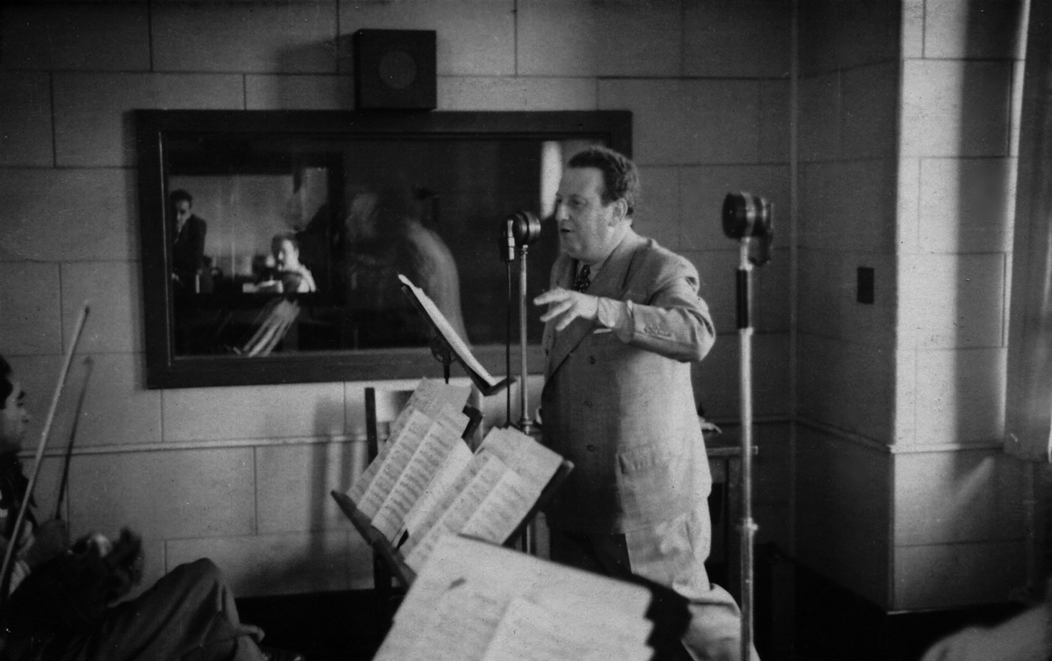 Max Ehrlich during a radio broadcast in New York in 1937. Max Ehrlich was one of the leading stars o