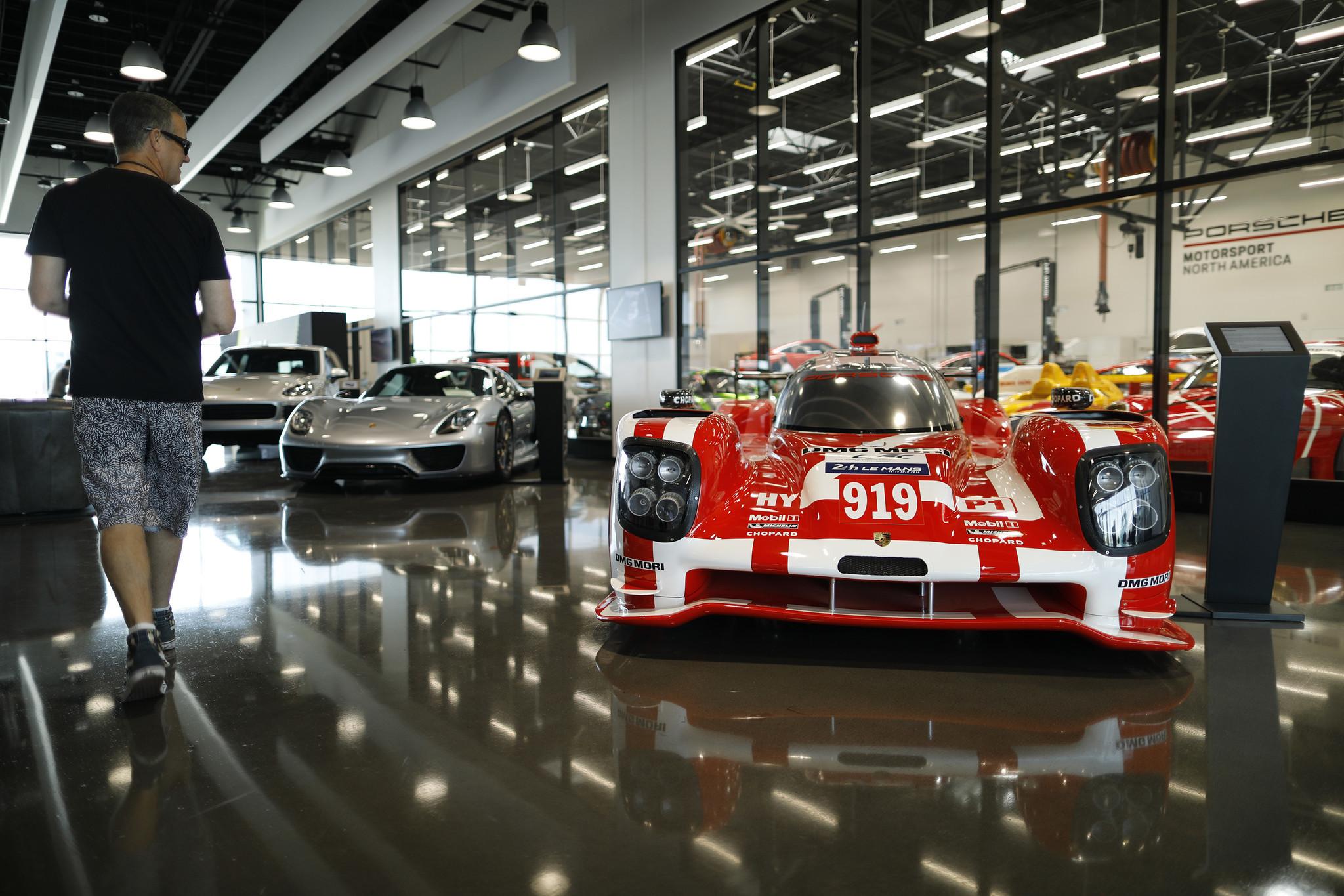 Porsche Experience Center lobby