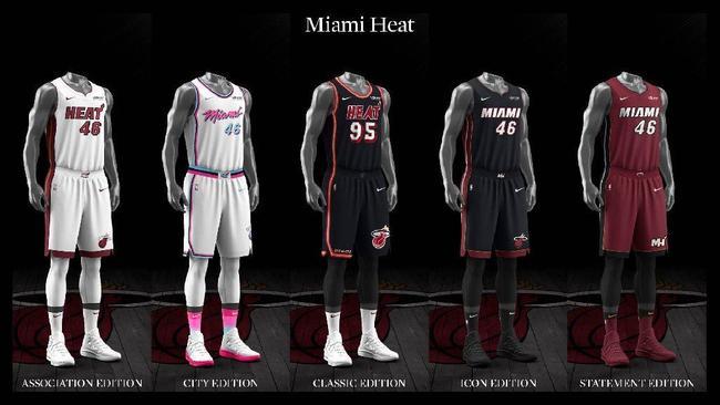 new concept b1471 ddc9d Miami Heat uniform set, 2017-18