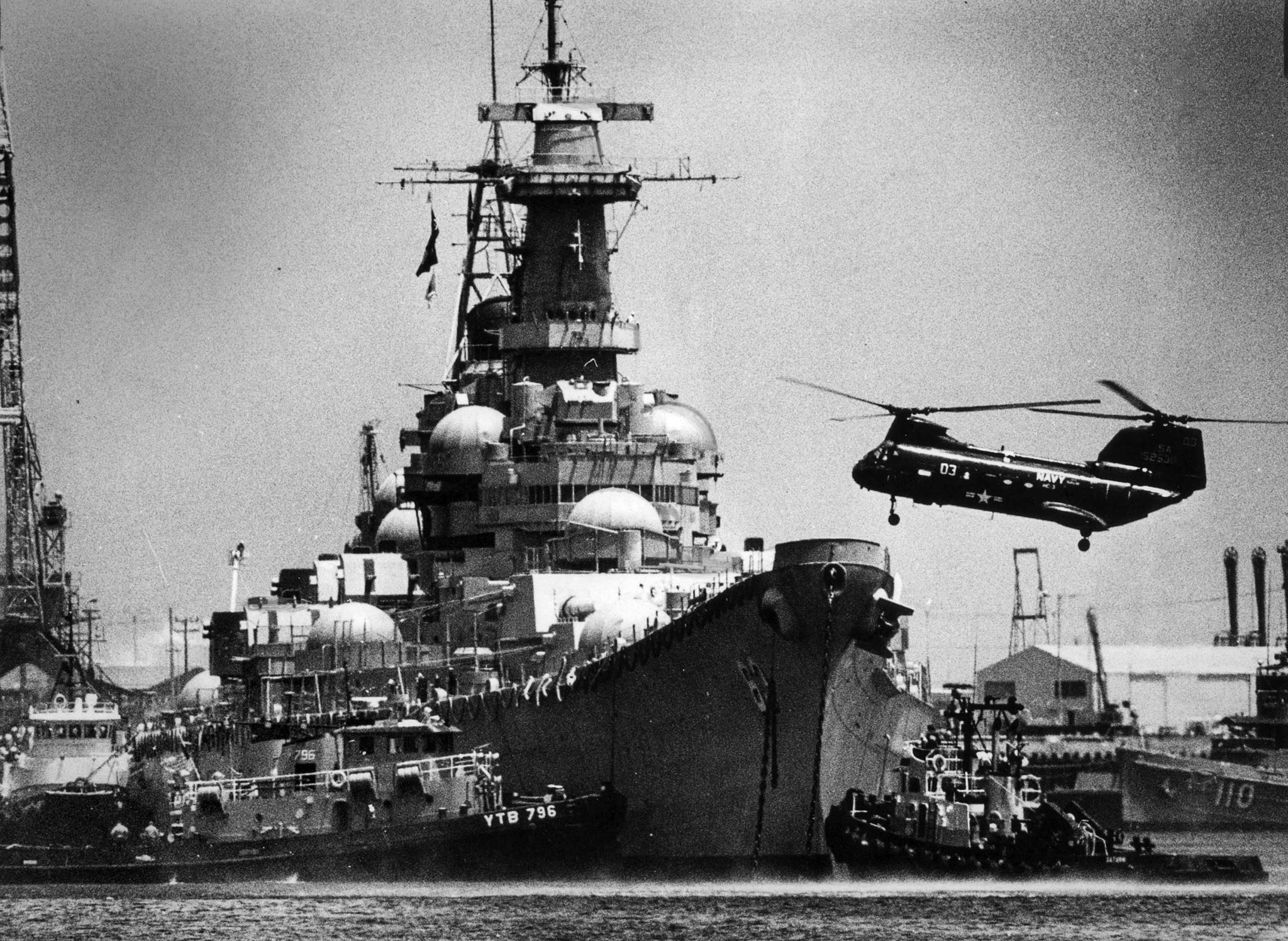 May 25, 1984: The battleship USS Missouri arrves in Long Beach from Bremerton, Washl, for a $425-mil