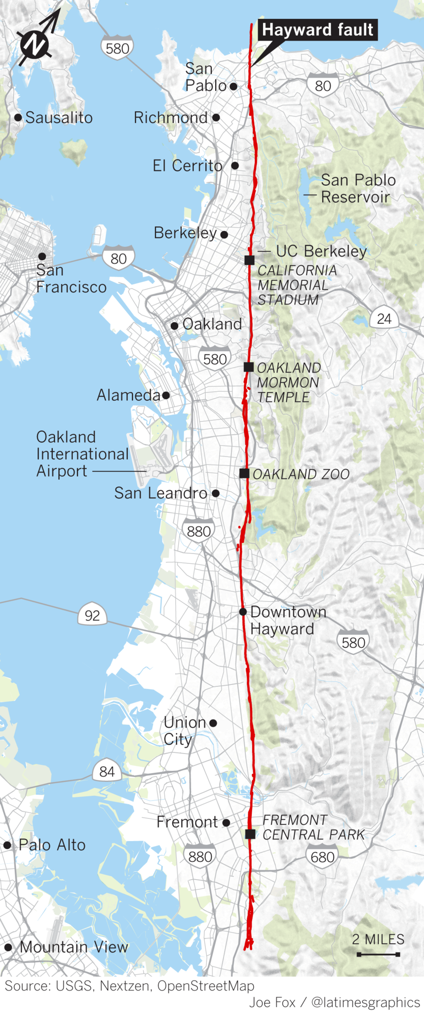 East Bay fault is \'tectonic time bomb,\' more dangerous than ...