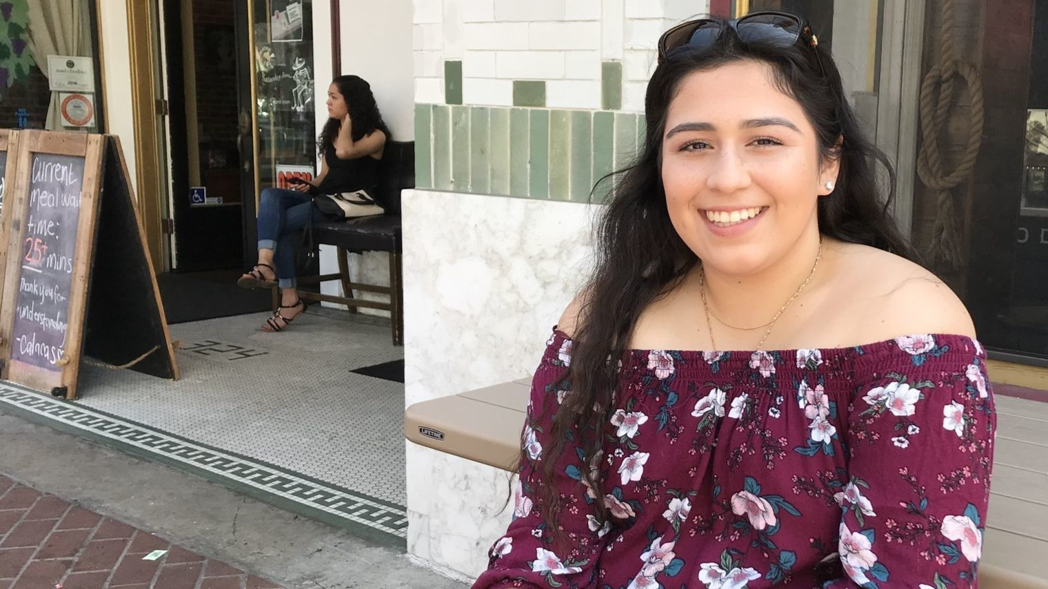 Julissa Prieto, 18, Santa Ana. Says she