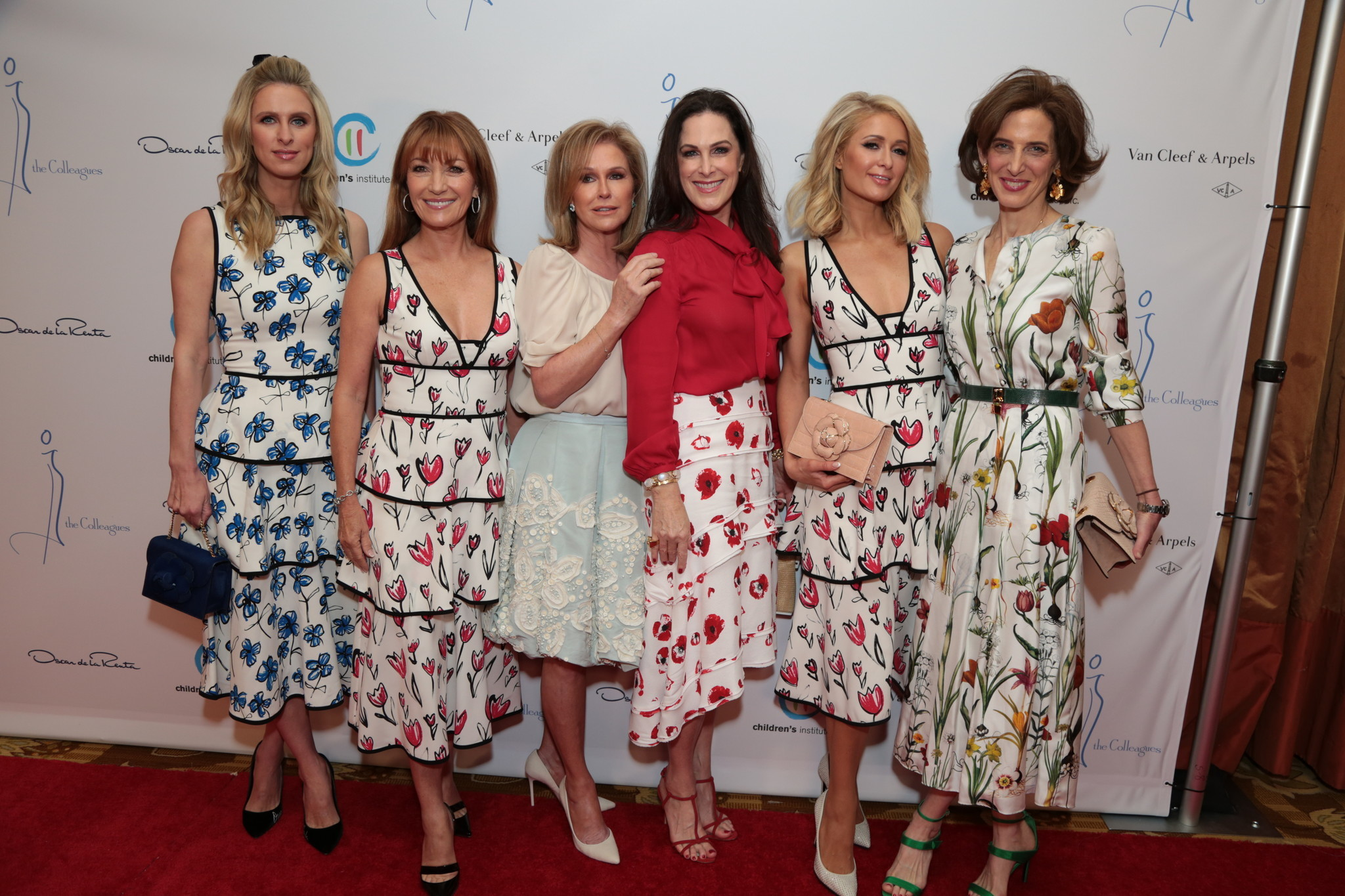 Nicky Hilton Rothschild, Jane Seymour, Kathy Hilton, Bridgette Gless Keller, Paris Hilton, Eliza Reed Bolen